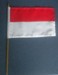 Monaco Country Hand Flag - Medium (stitched).